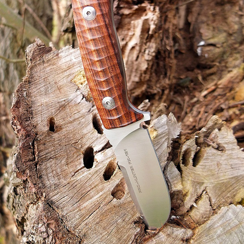 Нож Fox Pro-Hunter, сталь N690, рукоять Ziricote Wood, коричневый